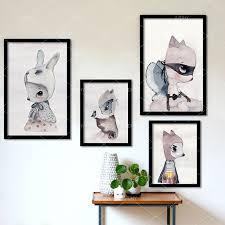 rabbit poster aliexpress buy modern nordic rabbit poster wall