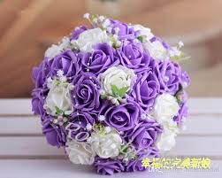 Fake Flowers For Wedding - beautiful wedding bouquet lavender lilac perfect wedding favors