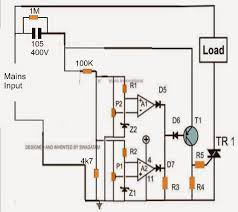 transformerless mains high and low voltage cut off circuit using