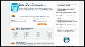 Novated Lease Calculator Spreadsheet Equipment Lease Calculator Overview Balboa Capital Youtube