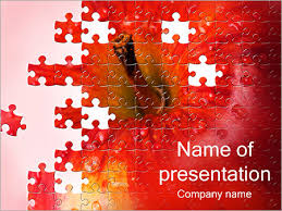 puzzle red apple powerpoint template u0026 backgrounds id 0000001923