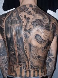 skull with grim reaper on back