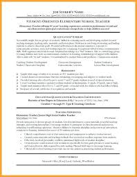 sample elementary teacher resume sample cover letter for a