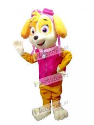 paw patrol skye mascot costume dog fancy suit cartoon character