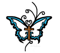 something kinda like that with a cross and a butterfly together