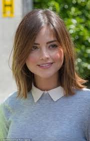 doctors and work hairstyles jenna coleman shoots scenes for doctor who in cardiff jenna