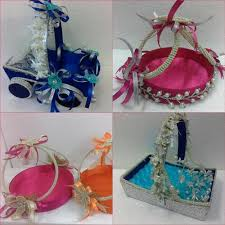 wedding gift decoration ideas wedding basket design at rs 300 s uphaar ki tokriyaan