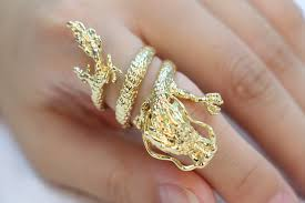 dragon rings gold images Fashion chinese dragon rings gold plated dragon ring antique jpg