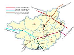 Guangzhou China Map by Guangxi Train High Speed Train Travel In Guangxi Of China