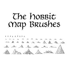The Hobbit Map The Hobbit Map Brushes Photoshop Brushes