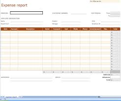 Rental Income Expenses Spreadsheet Blank Expense Report Template