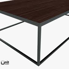 metal parquet coffee table by restoration hardware 3d model max