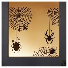halloween spider and web silhouette window and wall cling hyde