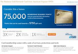 American Express Business Card Benefits Amex Business Gold Rewards Card 75 000 Points For 2 Days Only