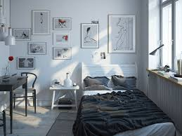 bedroom minimalistic scandinavian bedroom features wooden platform