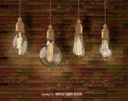 Edison decorative Light bulbs Vector