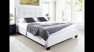 kaydian walkworth ottoman storage bed white leather youtube