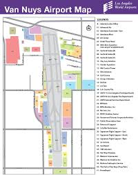 Lax Gate Map Vny Airport Map