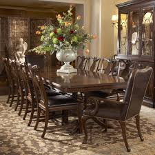 11 piece double pedestal dining table and splat back side chair