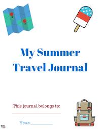 free printable summer travel journal for kids travel ideas
