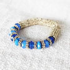 blue stone bracelet images Asher cobalt faceted beaded glass stone gold bracelet jpg