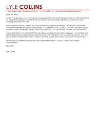 sample cover letter for maintenance job guamreview com