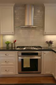 Kitchen With Brick Backsplash Brick Backsplash Tile Kitchen Traditional With Beige Cabinets
