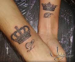 romantic crown tattoo for couples tattooimages biz