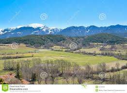 Pyrenees Mountains Map Catalan Pyrenees Mountains And Trees Landscape Puigcerdà