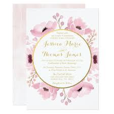 pink wedding invitations pink wedding invitations announcements zazzle