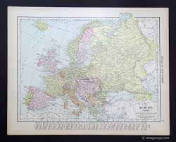 1914 Europe Map by Europe And Subregions Vintage Maps
