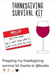 thanksgiving survival kit hello my yes i m single i i don t