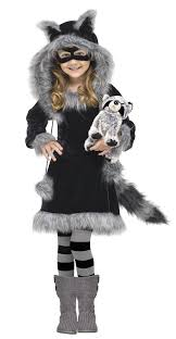 racy raccoon toddler costume