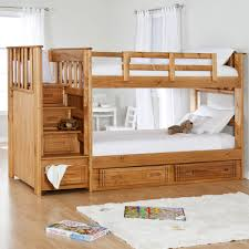 Kids Twin Bedroom Sets Bedroom Wooden Bunk Beds With Stairs Plus Many Drawers For Saving