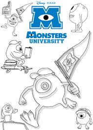 print free colouring sheets mike monsters university