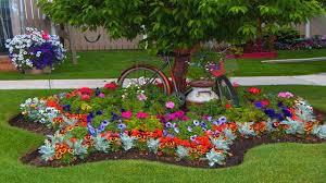 Landscape Flower Garden by Best Flower Bed Around Trees Garden Ideas Landscaping Ideas