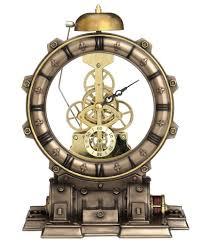 horloge murale engrenage horloge de bureau avec mécanisme engrenages apparents retro