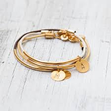 Gold Personalized Bracelets Personalized And Custom Jewelry Etsy