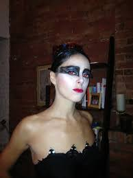 black swan with red eyes and lips halloween 2011 a photo on