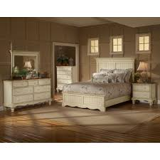 wilshire antique white king five piece panel bedroom set hillsdale