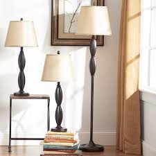 andover mills petrey 3 piece table and floor lamp set u0026 reviews