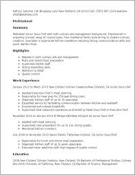 Sample Cook Resume Professional Junior Sous Chef Templates To Showcase Your Talent