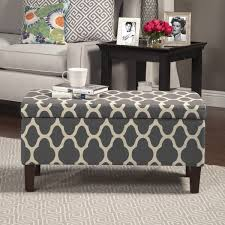 Homepop Storage Ottoman Homepop Geo Large Grey Storage Ottoman Free Shipping Today