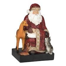 santa and baby jesus dicksons gifts santa baby jesus with animal