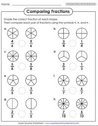 comparing and ordering fractions and mixed numbers worksheet comparing ordering fractions worksheets