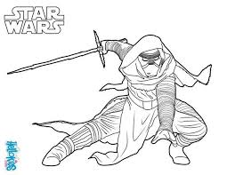 kylo ren star wars coloring pages hellokids