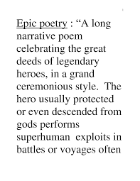 epic poem definition and exle search poetry and