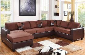 Reversible Sectional Sofas by Dannis Chocolate Microfiber Reversible Sectional Sofa