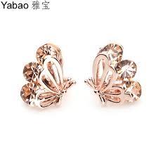 girl earrings yabao jewelry butterfly earring earrings ear clip in korean