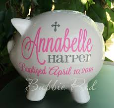 baptism piggy bank baptism gift christening gift personalized piggy bank baby